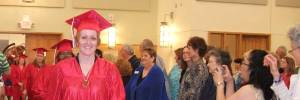 Brenda after the graduation ceremony
