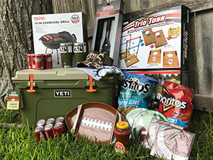 Yeti Cooler and Tailgate - Drawing item