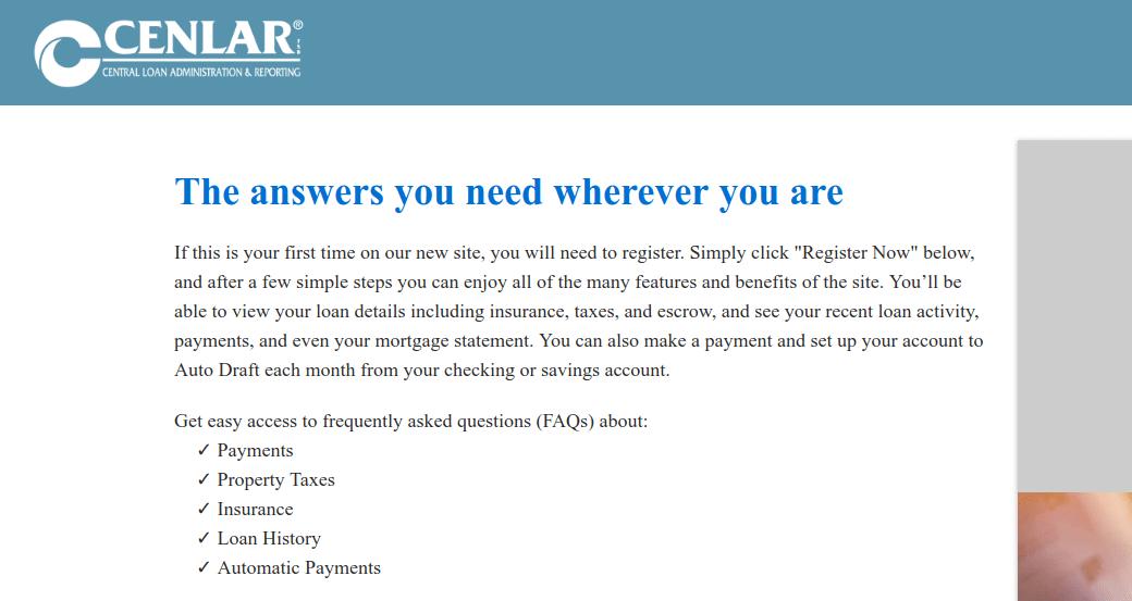 www loanadministration com - Cenlar Loan Administration Login