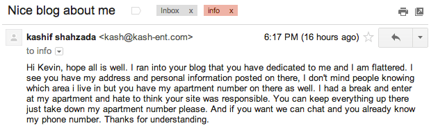 How NOT to contact a Blogger