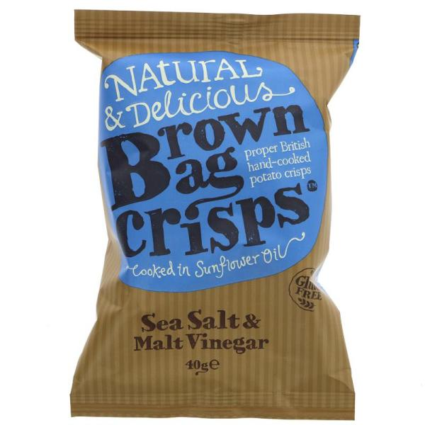 Brown Bag Crisps Salt & Vinegr