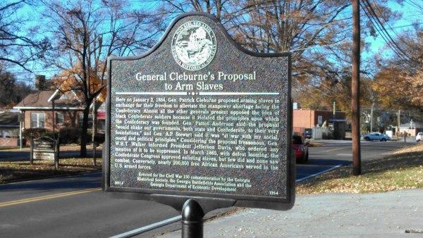 cleburne marker, black confederates