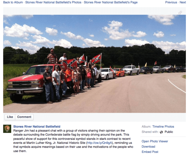 Facebook Page for Stones River National Battlefield