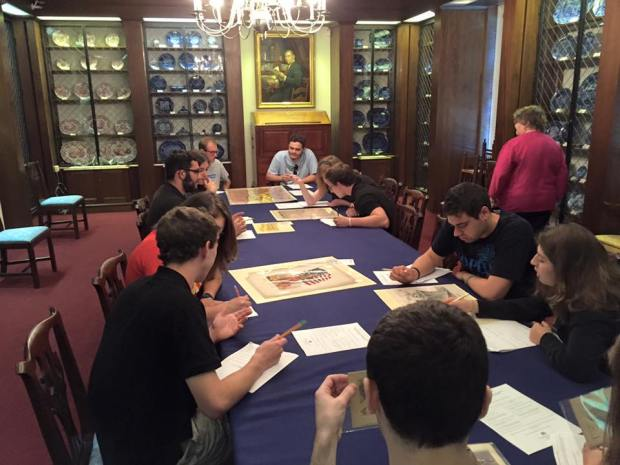 AAS Students Working With Archival Sources