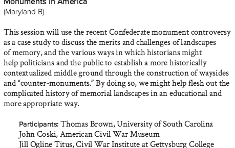 More Talk About Confederate Monuments