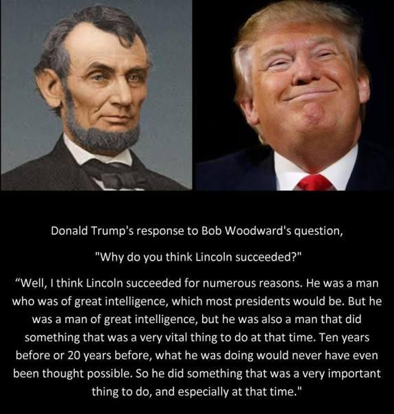 Trump, Lincoln