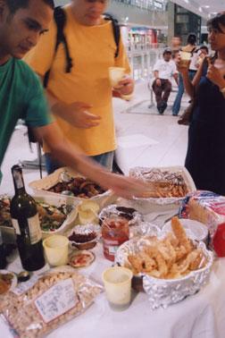 reception food
