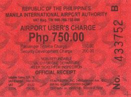 airport receipt