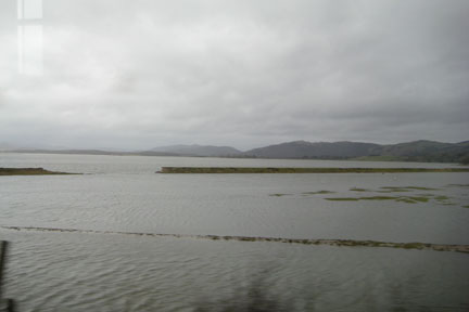 Morecambe Bay, I think. The photo doesn't do it justice. I looks dreary, but it's actually a spectacular landscape. It may be grey, but it's a hundred shades of grey.