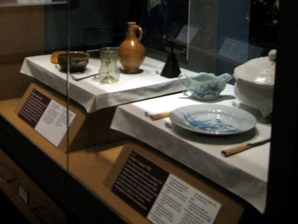 A typical table setting before (left) and after (right) the start of the Industrial Revolution. Walker Art Gallery.