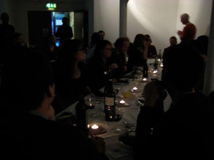 Ed and Johannes' dinner at Islington Mill