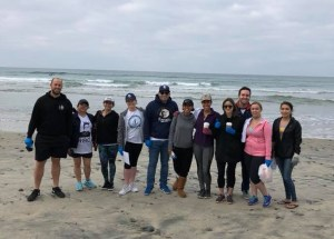 Beach cleanup photo
