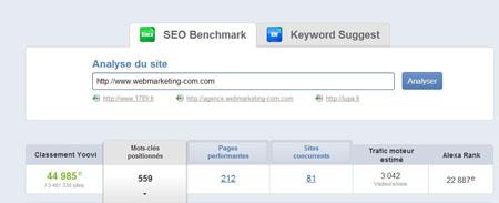 seo benchmark url
