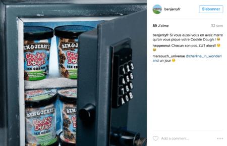 Content Marketing - Ben & Jerry's Instagram