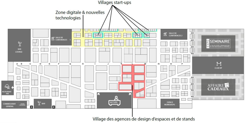 heavent paris lounge map