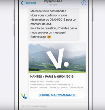 example SNCF travel chatbot