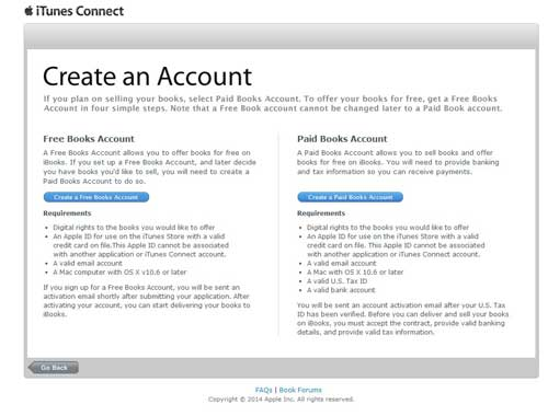 create itunes connect account