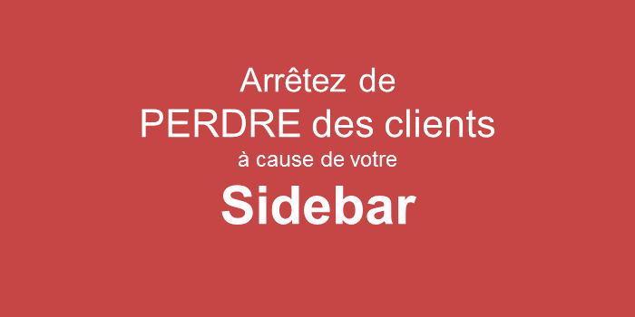 Stop losing customers because of your Sidebar 2020