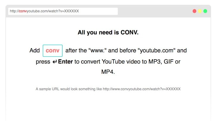 "Tool to convert YouTube videos to MP3, GIF or MP4 by adding ""conv"" to the URL – IDEA YOUR BLOG SITE 2020"
