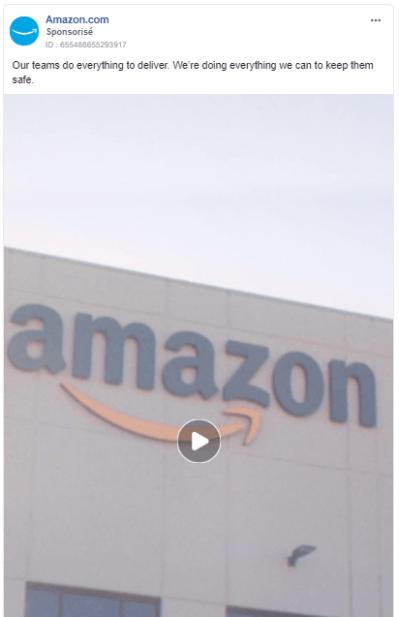Amazon: Facebook e-commerce advertising