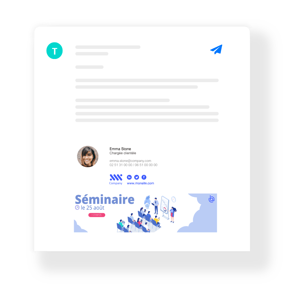 Internal email signature