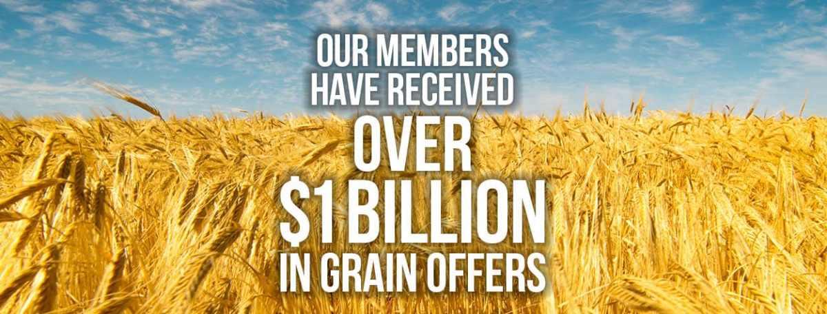 1 Billion dollars in grain offers