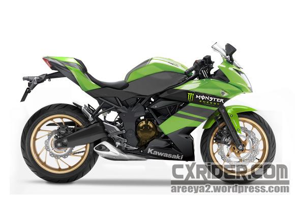 (lagi) Konsep modifikasi ninja rr 250 mono - monster