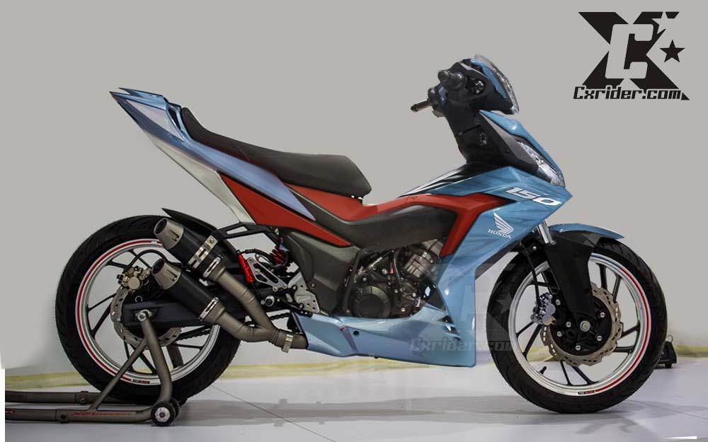 Modifikasi Honda Supra Gtr 150 Racing Blue Cxridercom