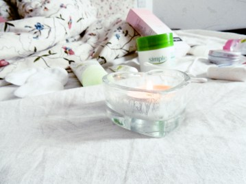 Candle for pamper routine