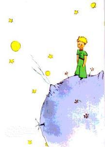 Le petit prince sur son astéoïde
