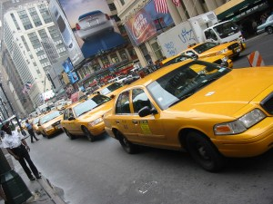 Dans les rues de New-York, États-Unis 2004