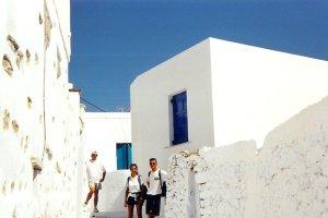 Amorgos : dans une rue d'Aigiali