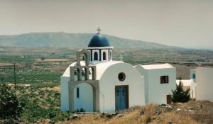 Santorin : chapelle à Akrotiri