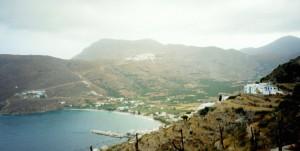 Ciel gris matinal sur Amorgos