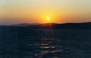 Lever de soleil sur les Cyclades
