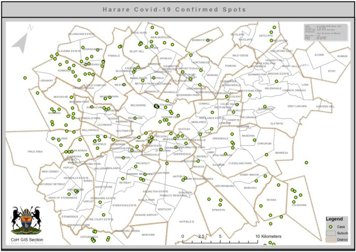 Map Of Harare Places