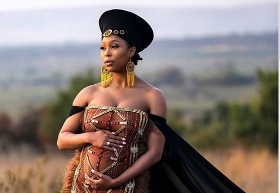 Minnie Dlamini Shows Off Baby Bump On TV For The First Time