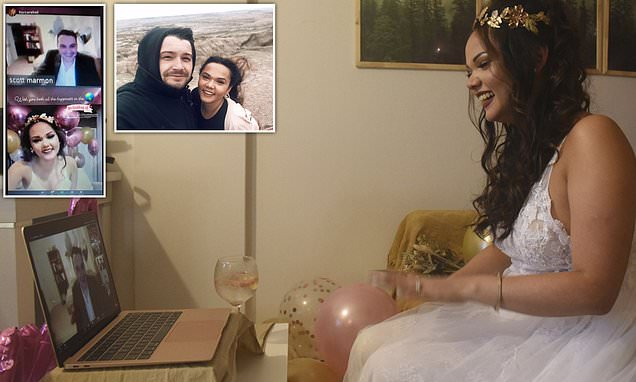 Couple Gets Married Over Zoom After Covid-19 Crisis Separated Them For 10 Months-iHarare