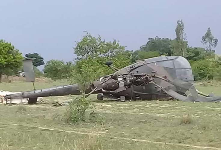 army helicopter crashes in gutu