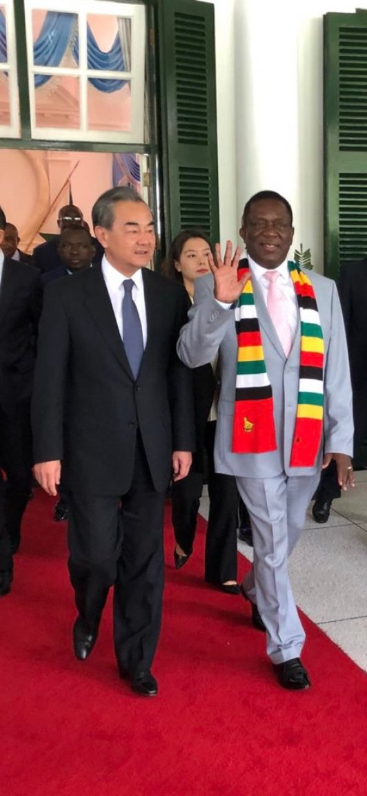 Mnangagwa Spotted Flashing An Open Palm In Opposition MDC STYLE