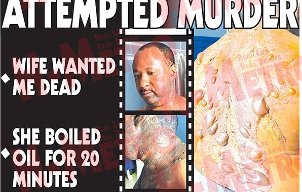 Church elder scalded by cheating wife