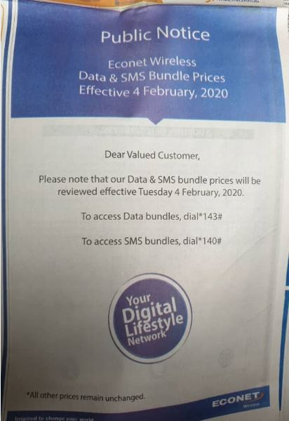 Econet Set To Hike Data & SMS Prices Again