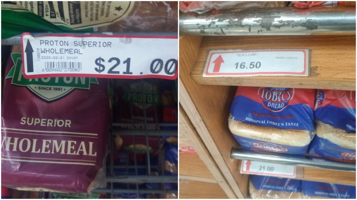 Price Of Bread Goes UP