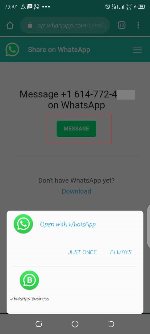 Send WhatsApp Message Without Saving The Number First