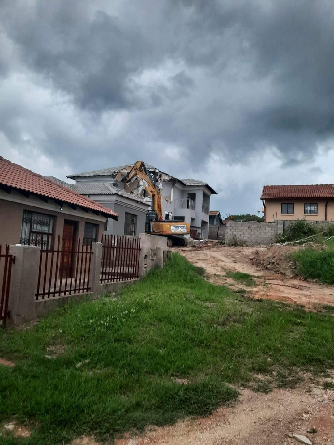 Bitter Blesser Bulldozes Girlfriend's House That He Built For Her After She Cheated