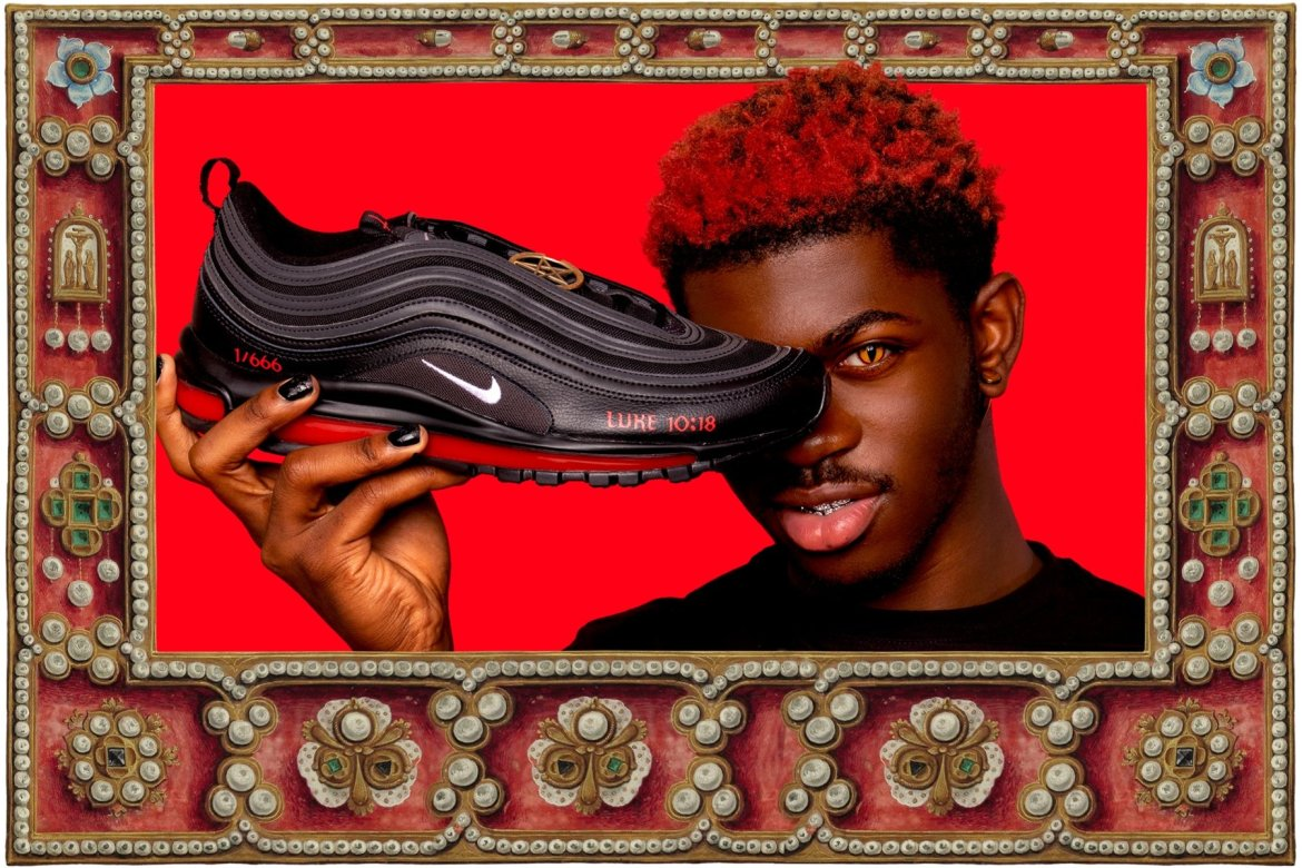 """Lil Nas X's """"Satan Shoes"""" With Human Blood Get Ringing Endorsement From """"Church of Satan"""""""