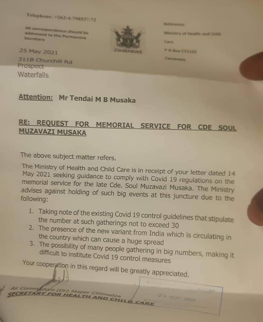 Soul Jah Love Memorial Service: Government Says NO