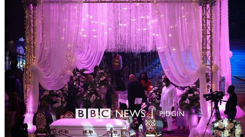 Pics: TB Joshua's Corpse Arrives At Synagogue Church Of All Nations