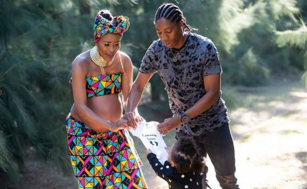 Caster Semenya and wife