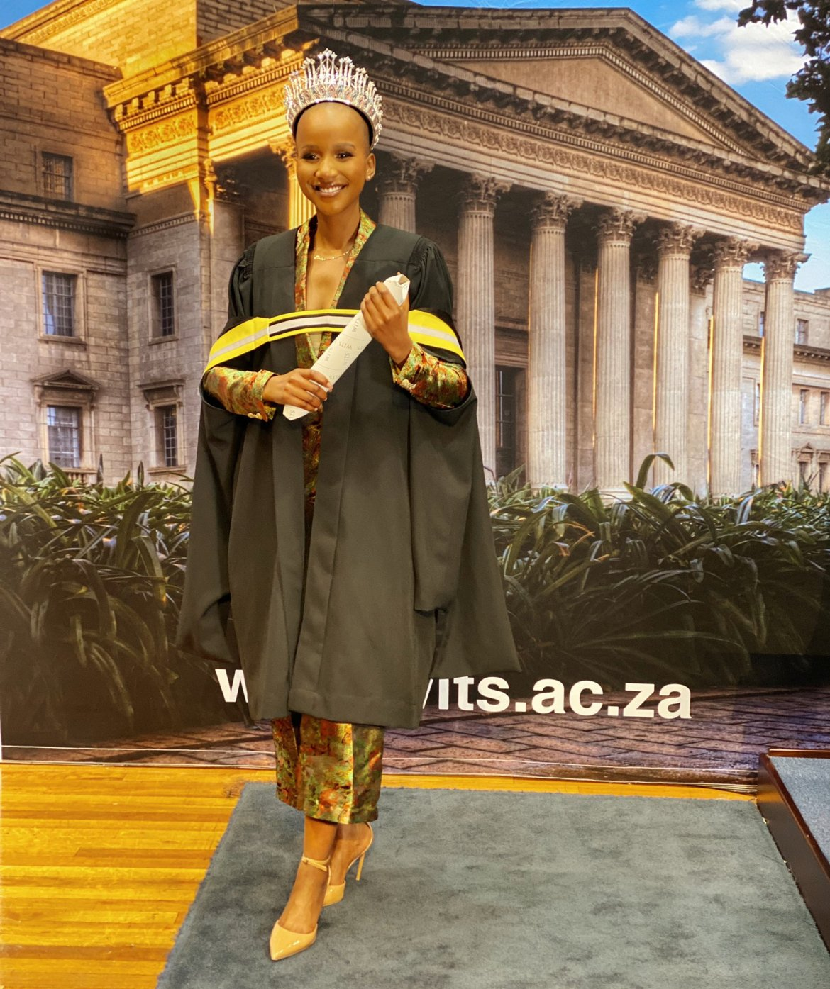 Beautiful and Smart: Shudufhadzo Graduates From Wits During Miss South Africa Reign